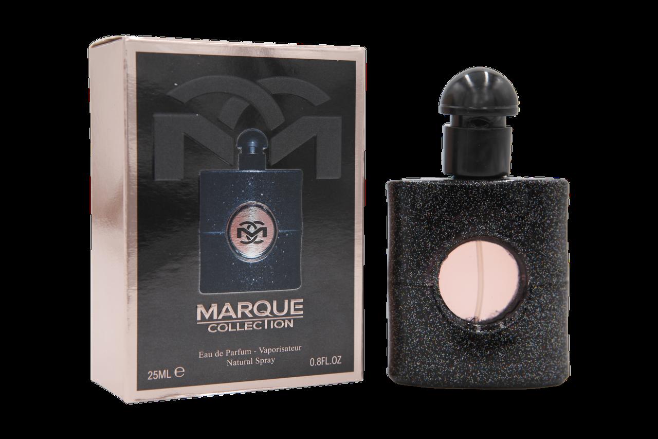 Парфюмированная вода женская Marque Collection №109 YSL Black Opium 25мл