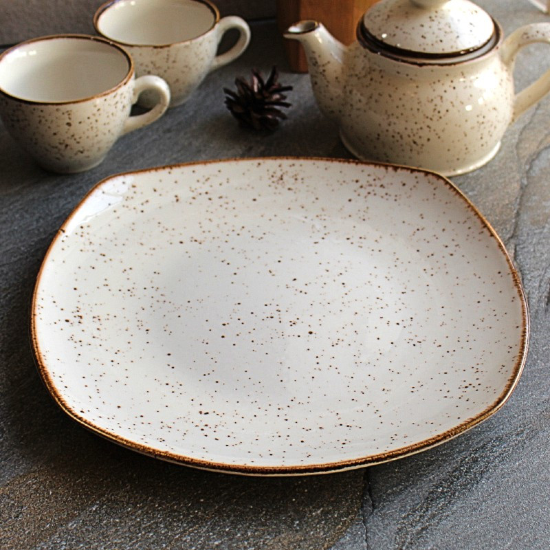 Фарфоровая тарелка квадратная турецкая Kutahya Porselen Atlantis 270 мм (CR3227)