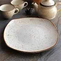 Фарфоровая тарелка квадратная турецкая Kutahya Porselen Atlantis 270 мм (CR3227), фото 1