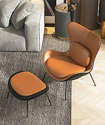 Кресло для отдыха с подставкой для ног. Модель 1-786