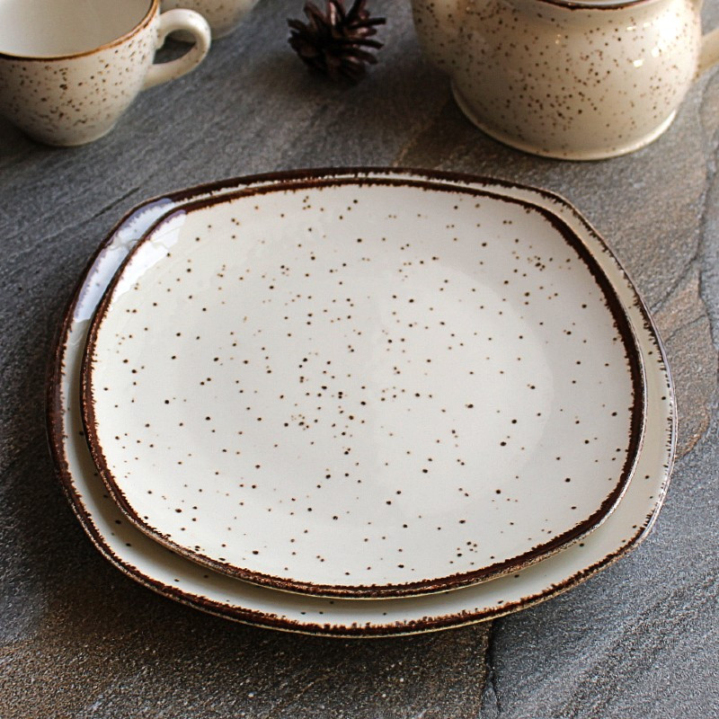 Подставная квадратная мраморная тарелка Kutahya Porselen Atlantis 230 мм (CR3223)