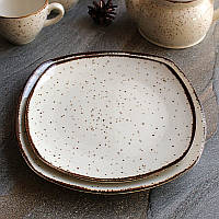 Подставная квадратная мраморная тарелка Kutahya Porselen Atlantis 230 мм (CR3223), фото 1
