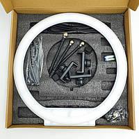 Профессиональная светодиодная кольцевая лампа MM-988 35см 30 Вт на 280 светодиодов с зеркалом