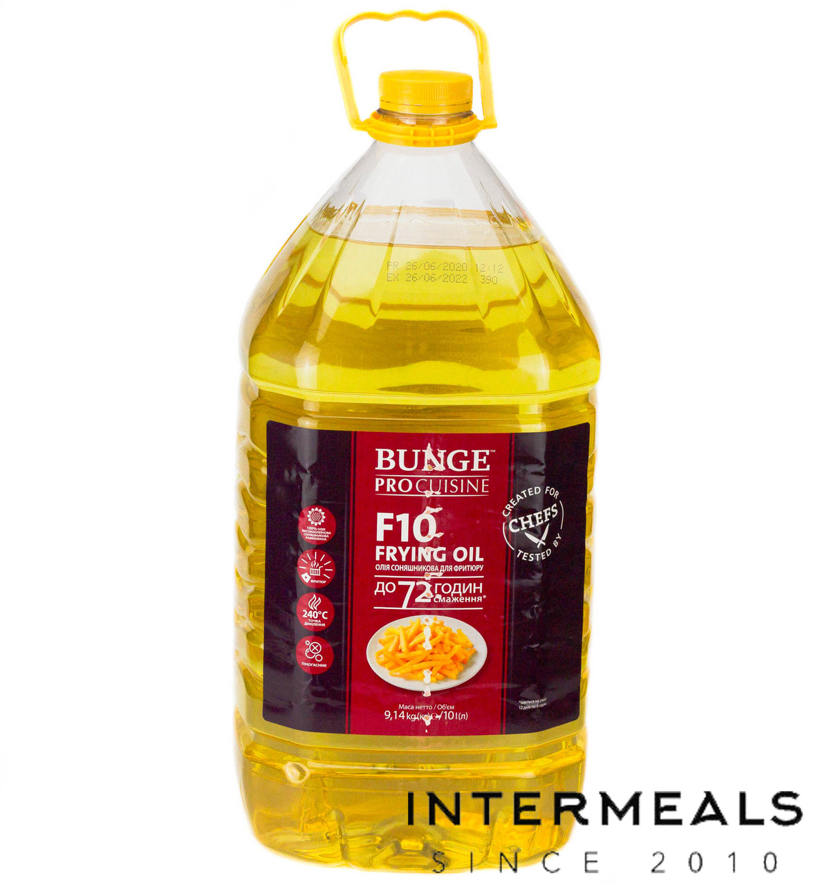 Подсолнечное масло для фритюра Bunge Pro F10 (72 часа), 10 литров