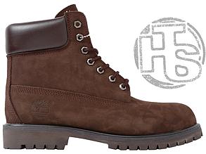 Мужские ботинки Timberland 6-Inch Premium Boot Brown (с мехом)