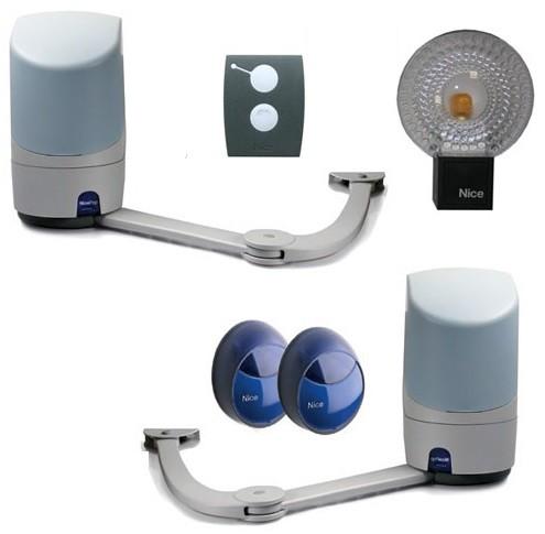 Комплект приводов для автоматизации распашных ворот Nice Pop KCE