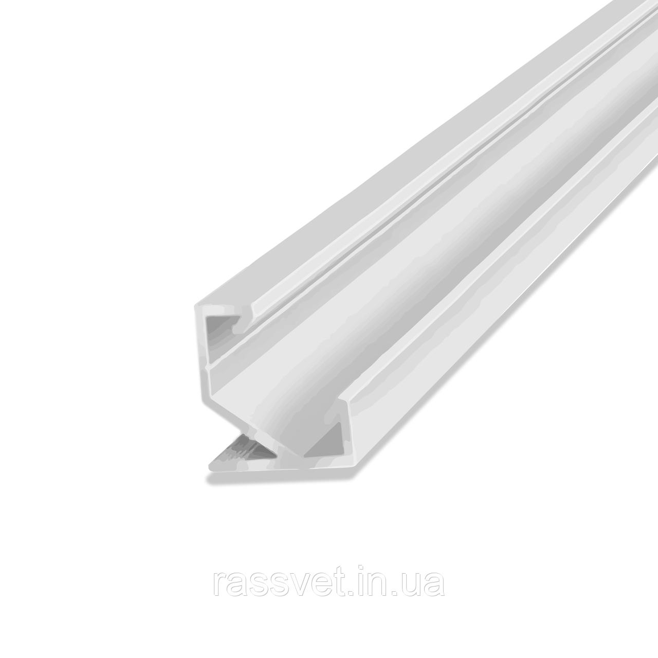 Неанодированный угловой профиль ЛПУ-17 светодиодный Crop (20826)