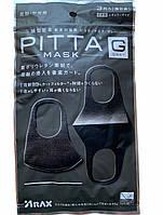 3 ШТ Багаторазова маска пітта Pitta Mask Arax (колір графіт) + подарунок антисептик клин стрім, фото 1