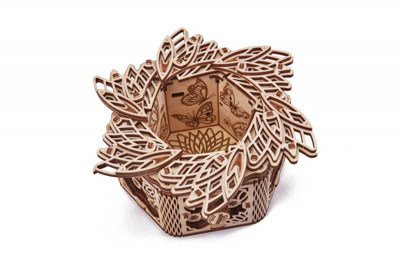Деревянный конструктор Таинственный Цветок. Сувенир из дерева WoodTrick Таинственный Цветок (Опт, дропшиппинг)