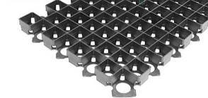 Решетка газонная 60х40х3,8 пластиковая черная, фото 2