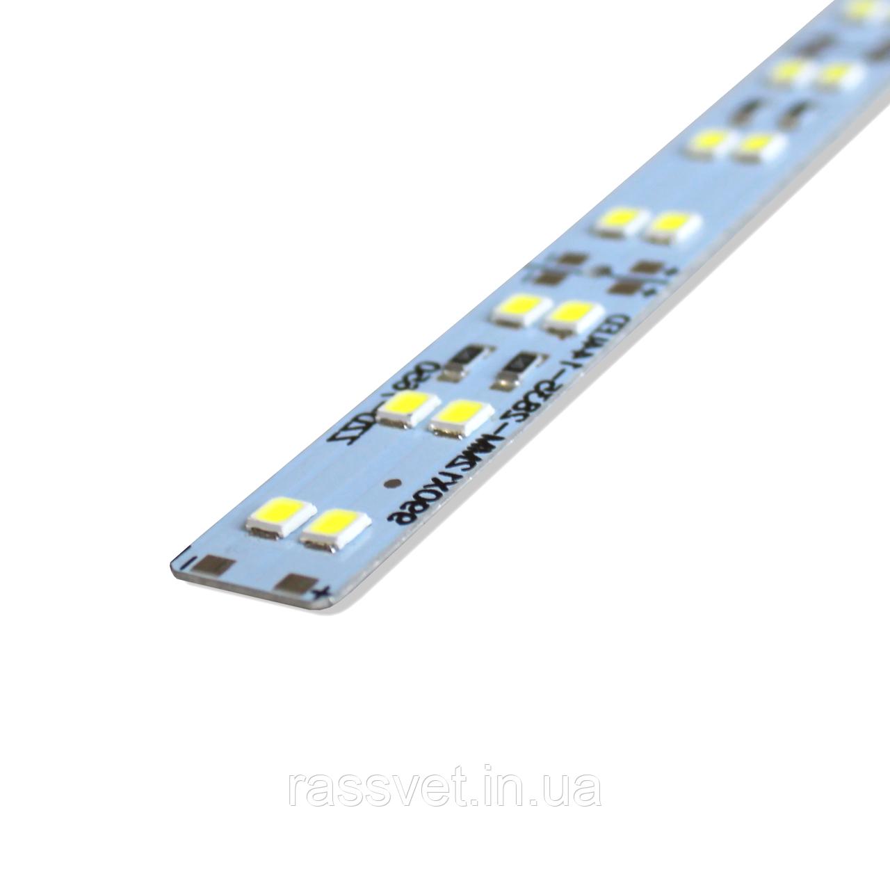 Светодиодная линейка Crop SMD2835 144 диода Холодный Белый 2-х рядная (20882)