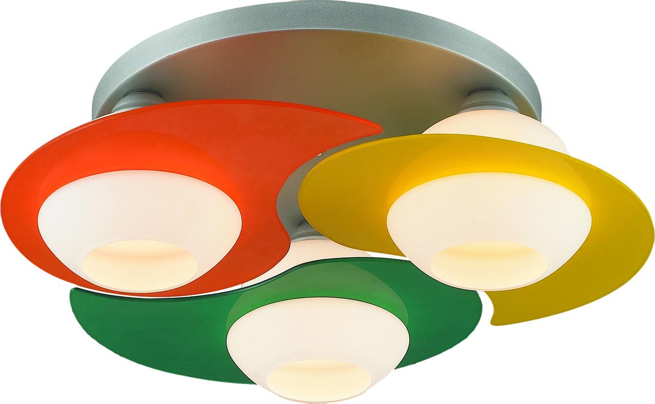 Светильник потолочный Altalusse INL-9291C-03 Silver & Green, Yellow, Orange