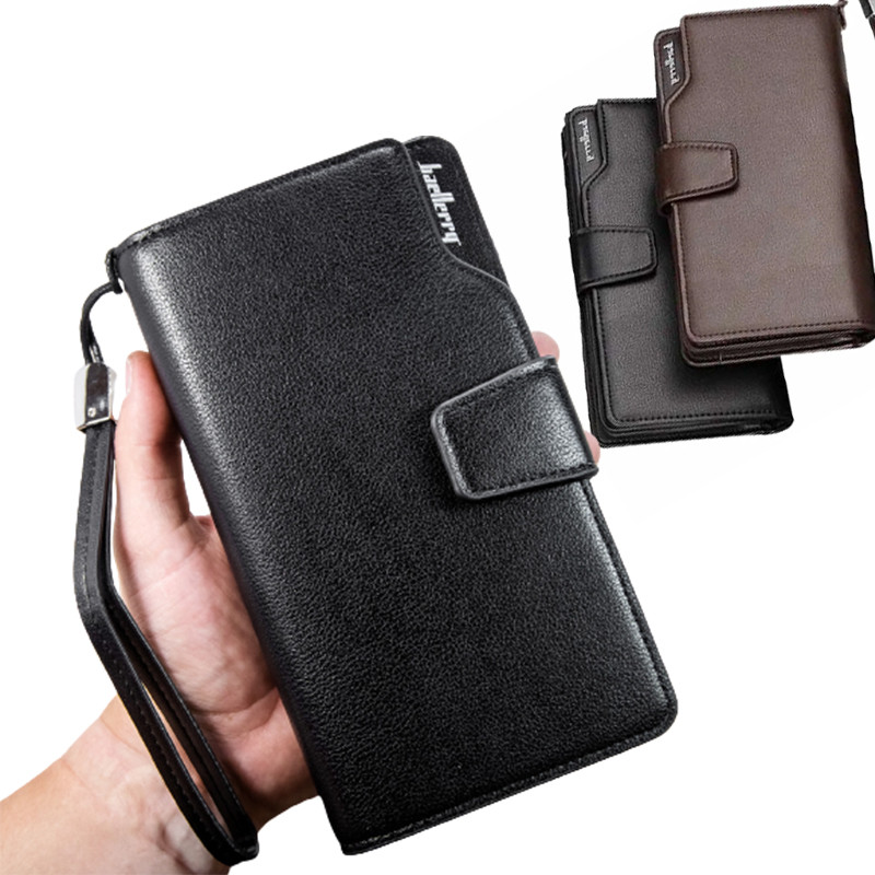Кожаный мужской кошелек Baellerry Business + ПОДАРОК! (19,5 х 10 х 3 см)