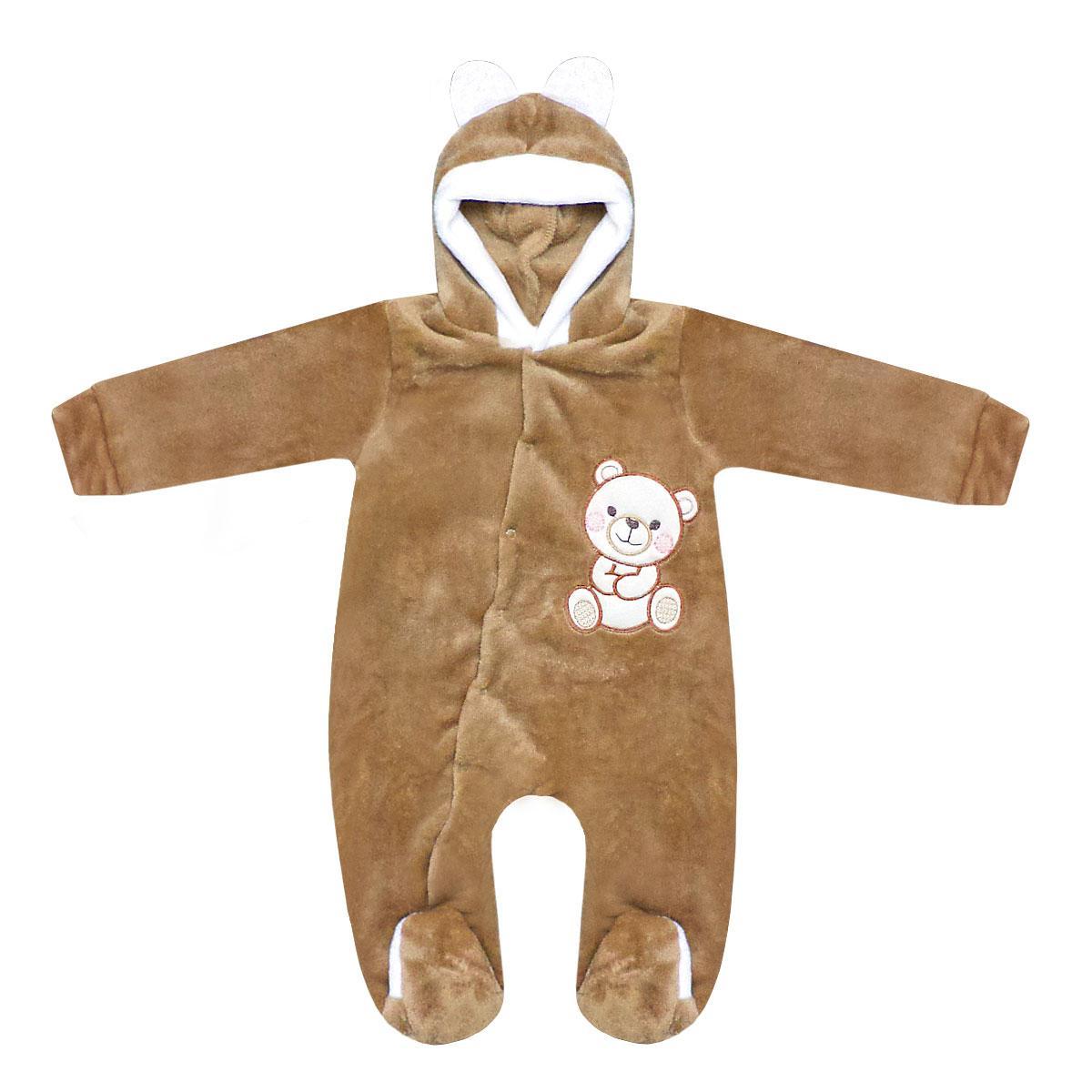 Детский комбинезон для мальчика Медвежонок велсофт