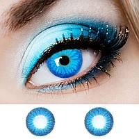 """Голубі контактні лінзи кольорові ELITE Lens """"Blue 1"""" (N0138)"""