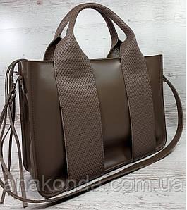 684-4-XL Натуральная кожа Сумка женская кофейная кожаная коричневая женская сумка натуральной кожи А4 формат