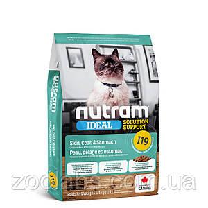 Корм Nutram для кошек | Nutram I19 Ideal Solution Support Sensetive Coat, Skin, Stomach Cat Food 5,4 кг