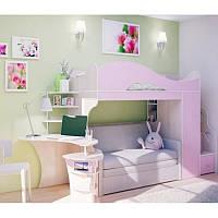 Двухъярусная кровать с диваном лдсп -18мм