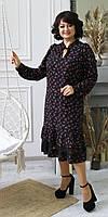 Воздушное, легкое стильное женское платье с мелкими цветами