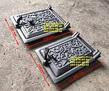 Дверцята сажечистка чавунна, люк для золи (130х135мм) сажотруска, печі, грубу, барбекю, мангал, фото 7