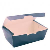 Коробка бумажная для нагетсов и суши 165*105*58 см Черная 25/уп