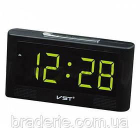 Часы электронные сетевые VST-732Y-4 Зеленое свечение