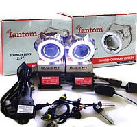 Би-ксеноновые линзы FANTOM с ангельскими глазками G5 и ксенон установочный комплект с проводкой!, фото 1