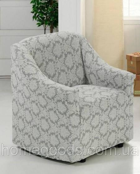 Универсальный жаккардовый чехол на кресло