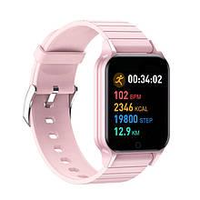 Смарт часы Smart Watch T96, температура тела, pink