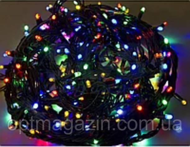 Гирлянда черный шнур хрусталь 200 LED мультик, фото 2