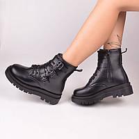 Женские ботинки черные с мехом Остался 41 размер