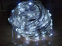 Гирлянда Леска - Капельки Росы LED НГ-010 SLG, 250 диодов, белый/теплый/синий/RGB на выбор, IP33, 220В