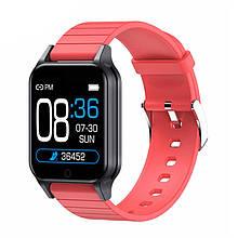 Смарт часы Smart Watch T96, температура тела, red