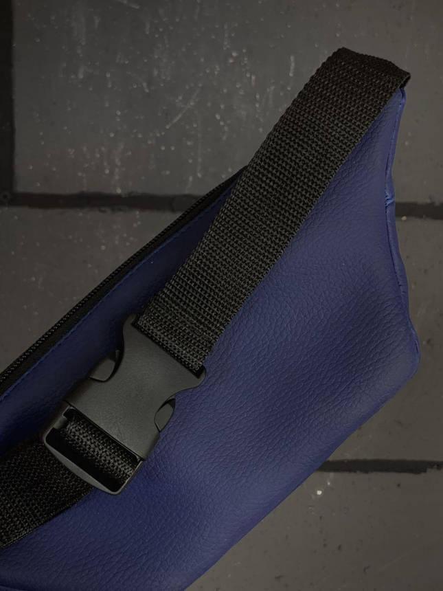 Бананка Женская | Мужская Calvin Klein синяя blue сумка на пояс, фото 2