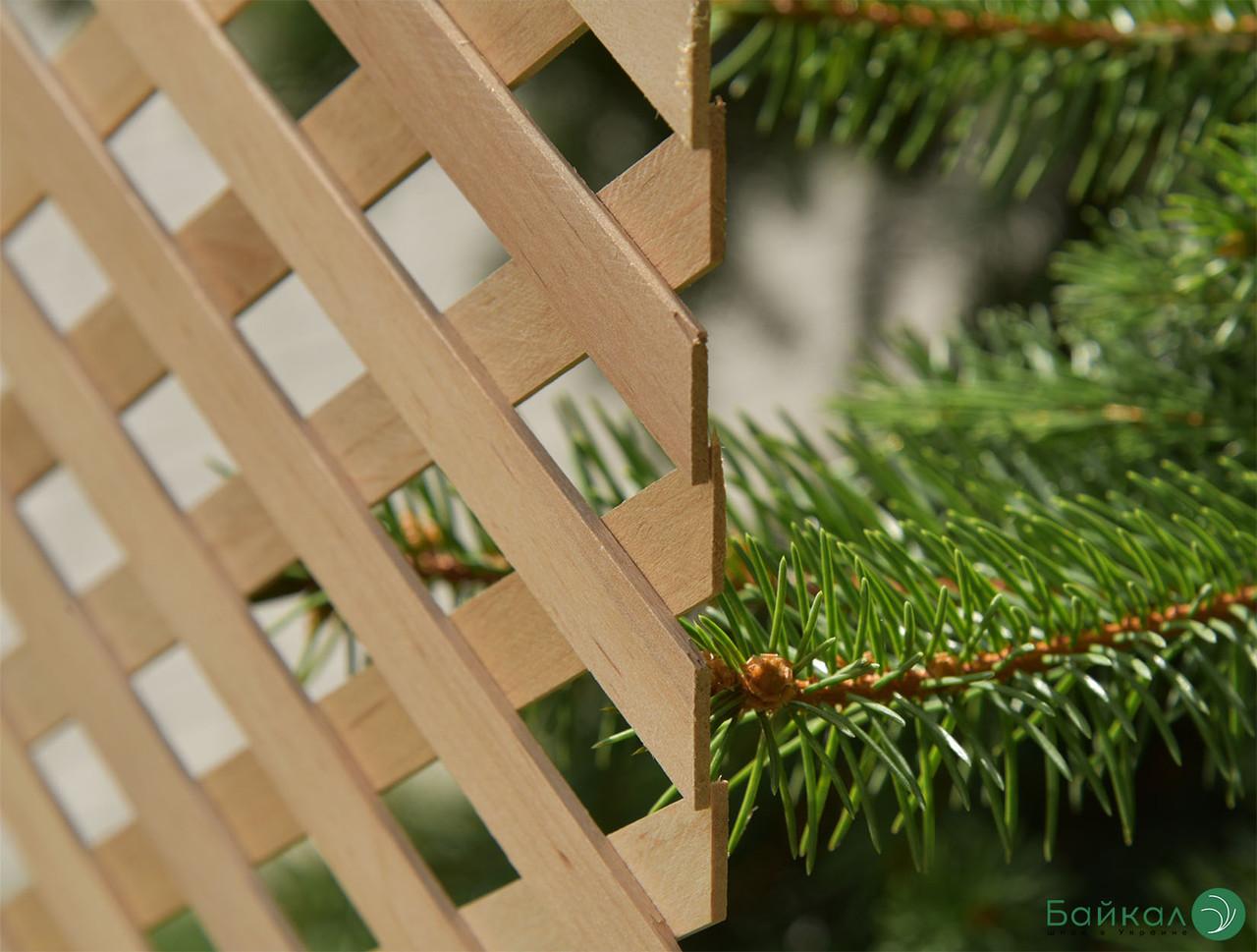 Дерев'яна декоративна решітка — 1P (Вільха, Бук, Клен, Ясень, Дуб)