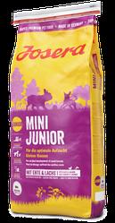 Корм Josera Mini Junior Йозера Міні Юніор для цуценят дрібних порід качка лосось 15 кг к|д