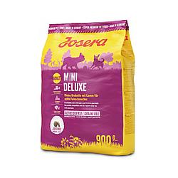 Корм Josera Mini Deluxe Йозера Міні Делюкс беззерновой корм для дрібних порід собак з ягням 900 г