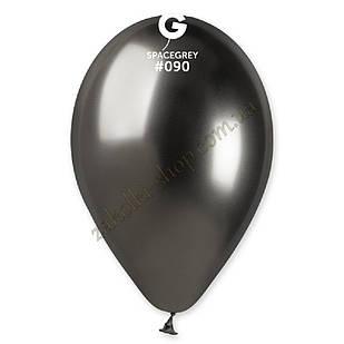 Латексные воздушные шары GB120_90 Gemar Италия, расцветка: хром космический серый Shiny Space Grey