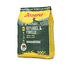 Корм Josera Geflugel & Forelle для собак з птицею та фореллю 900 г