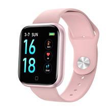 Смарт часы Smart Watch T80S, pink, два браслета, температура тела