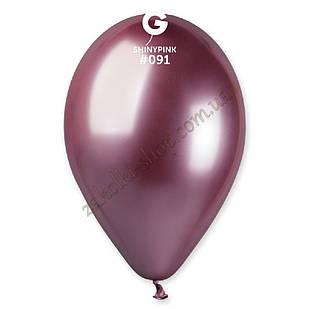 Латексные воздушные шары GB120_91 Gemar Италия, расцветка: хром розовый Shiny Pink, Диаметр 13 дюймов/33 см