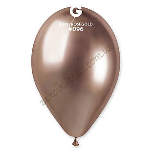 Латексные воздушные шары GB120_96 Gemar Италия, расцветка: хром розовое золото Shiny Rose gold
