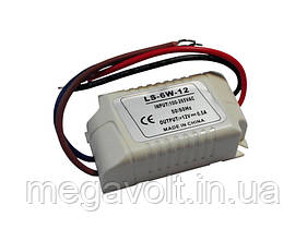 Блок питания 6W 12V негерметичный mini (пластик)