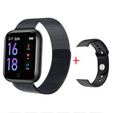 Смарт часы Smart Watch T80S, black, два браслета, температура тела