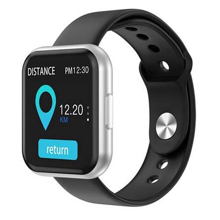Смарт годинник Smart Watch T88, два браслети, silver, фото 2