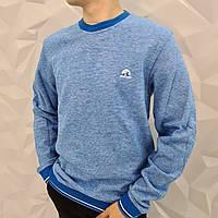 """Молодежный теплый мужской зимний свитер """"Феликс"""" светло-голубой, Турция"""