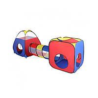 Намет дитячий з тунелем Пірамідка-куб ігрова MR 0347 розмір 270х95х90 см