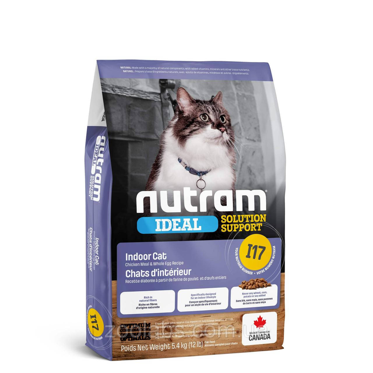 Корм Nutram для взрослых кошек   Nutram I17 Ideal Solution Support Finicky Indoor Cat Food 5.4 кг