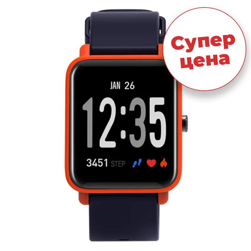 Часы спортивные JETIX FitPro с GPS трекером  (Black-Orange)