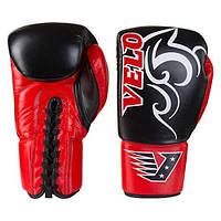Боксерські рукавички Velo на шнурівці, шкіра, 12 oz, фото 1